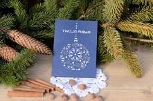 """Kartka świąteczna – ze śnieżynkami.  Kartka świąteczna """"ze śnieżynkami"""" z życzeniami świątecznymi oraz noworocznymi dla parterów biznesowych, pracowników, przyjaciół lub rodziny..."""