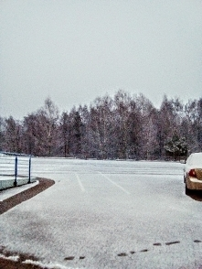 Pierwszy śnieg w tym roku, który widać :-) Czy na święta będzie biało?