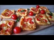 Ciasto francuskie z mozzarella i pomidorami - Przekąski na ciepło