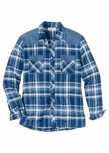 Koszula Regular Fit bonprix niebieski w kratę
