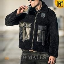 Christmas Deals | CWMALLS® Vancouver Custom Men Shearling Jacket CW808325 [Free Shipping]