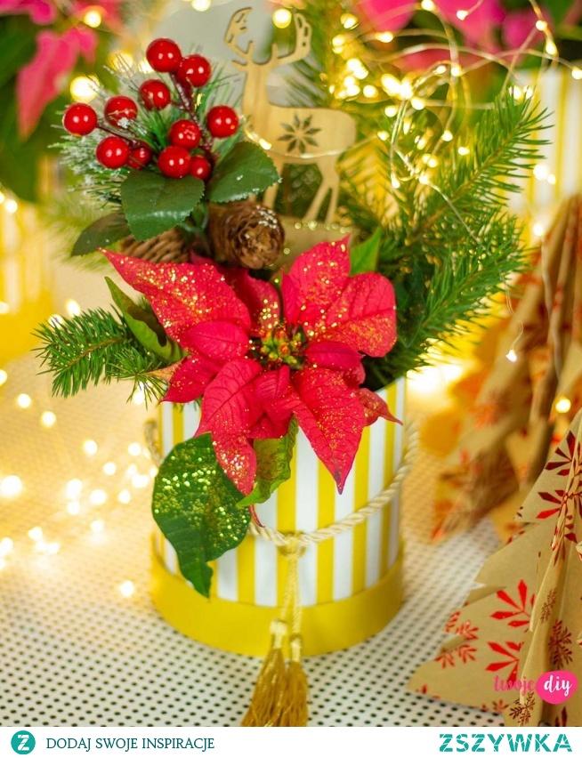 świąteczny flower box diy