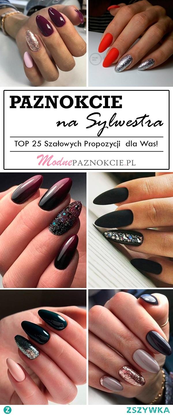 Paznokcie na Sylwestra- TOP 25 Szałowych Propozycji na Sylwestrowy Manicure!