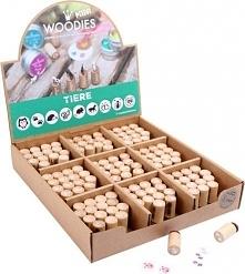 Stempelki, pieczątki drewniane, 1 szt., zabawki montessori, dla dzieci kod pr...