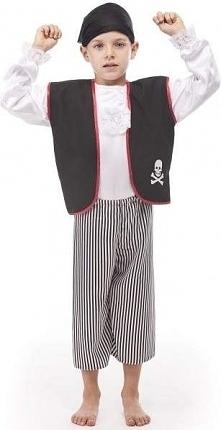 Pirat z kamizelką przebrania i kostiumy dla dzieci