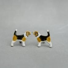 Beagle mini pieski- ceramiczne sztyfty