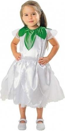Strój Kwiatek biały - przebrania dla dzieci