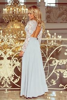 Piękna szara długa sukienka...