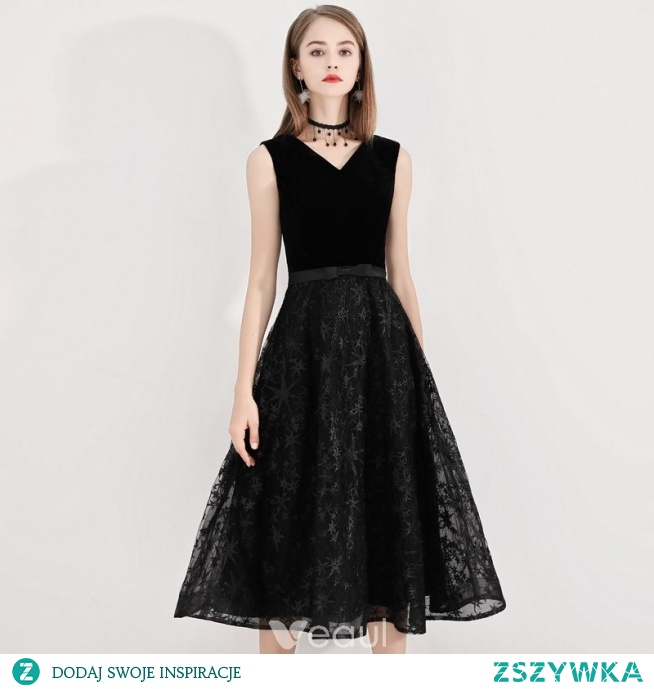 46319fd513 Stylowe   Modne Czarne Homecoming Sukienki Na Studniówke. 2019 Princessa ...