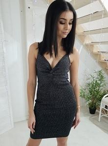 Dzianinowa sukienka LUCIDO srebrny