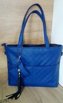 niebieska torebka handmade ...