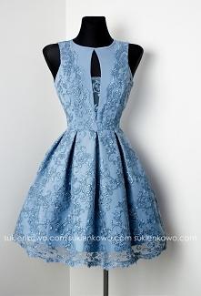 ALISS - Koronkowa sukienka Blue Jeans