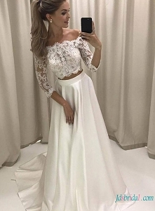 Sexy off the shoulder #separates koronki #weddingdress Model: H0793 (bezpłatna wysyłka na cały świat)
