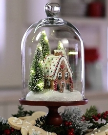 dekoracja z domkiem piernik...