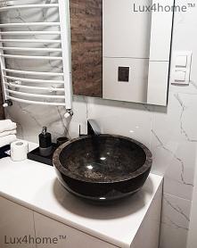 Okrągła umywalka z kamienia...