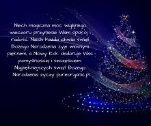 Z okazji nadchodzących Świąt Bożego Narodzenia przyjmijcie najserdeczniejsze od nas życzenia.