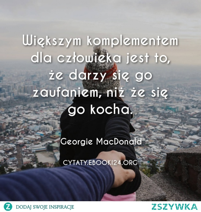 Georgie MacDonald cytat o komplementach
