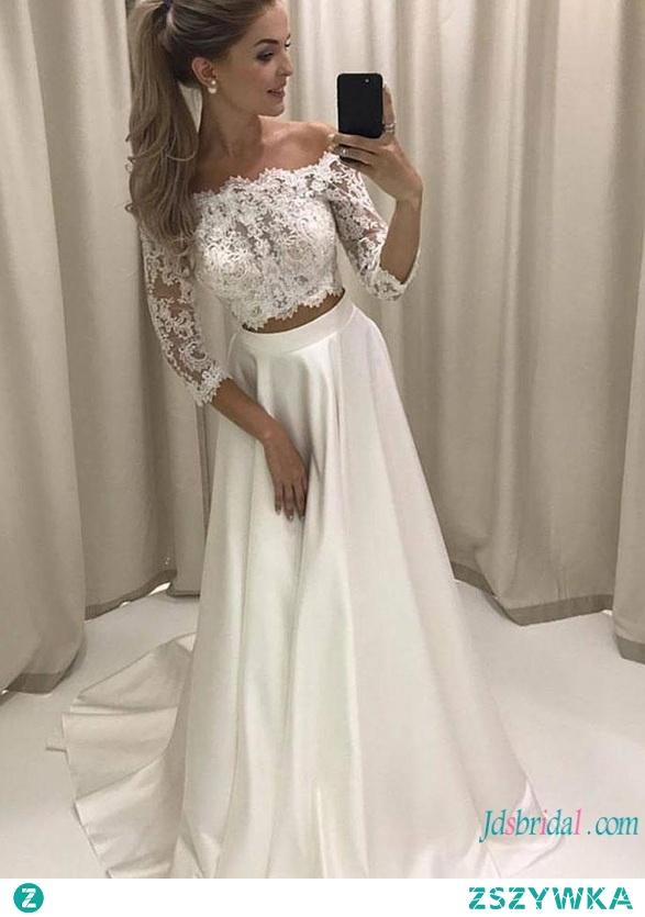 Sexy off the shoulder #separates koronki #weddingdress Model: H0793 (bezpłatna wysyłka na cały świat)