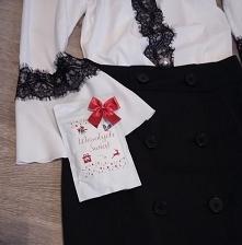 Czarna koronka na białej bluzce od malmie z 22 grudnia - najlepsze stylizacje i ciuszki
