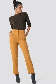 NA-KD Classic High Waist Flared Suit Pants - Yellow