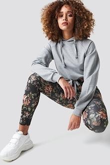 NA-KD Dark Floral Leggings - Black,Multicolor