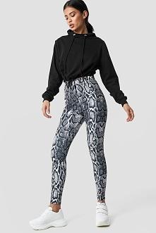 NA-KD Trend Snake Print Leggings - Grey,Multicolor