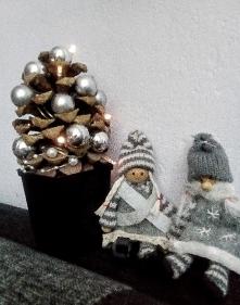 Choinka - moja dekoracja na stół ;-)