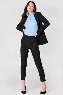 NA-KD Classic Proste spodnie garsonkowe - Black
