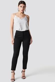 Trendyol Pocket Ruffle Detailed Trousers - Black