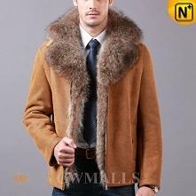 Men Sheepskin Jacket | CWMALLS® New York Custom Fur Trim Shearling Jacket CW855489 [Free Shipping]