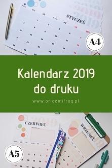 Kalendarz 2019 do druku