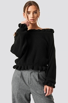 Glamorous Sweter z odkrytymi ramionami - Black