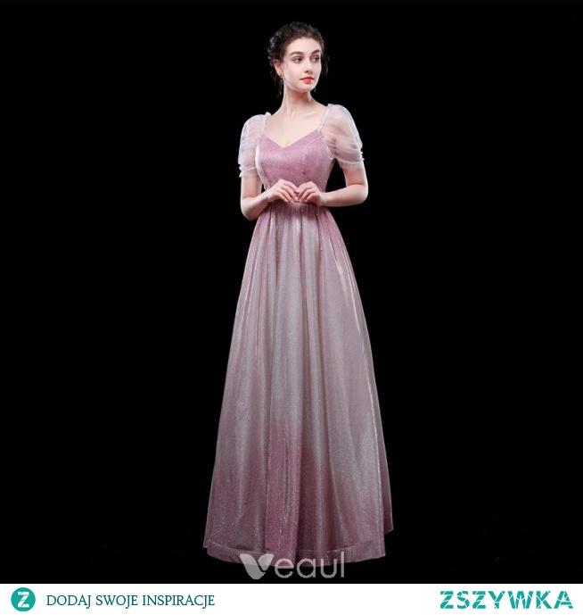 568c7ba0 Piękne Gradient-Kolorów Cukierki Różowy Sukienki Wieczorowe 201.. na ...