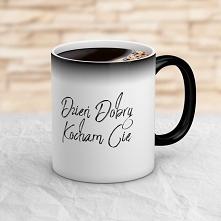 Wyobraź sobie minę partnera obdarowanego takim magicznym kubkiem, kiedy pod wpływem gorącej, porannej kawy, kubek odsłoni taki tekst: Dzień Dobry Kocham Cię.