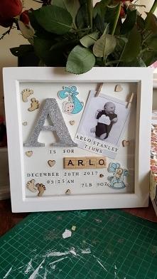 SCRABBLE Art - prezent na narodziny dziecka lub Chrzciny