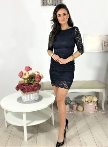 Sukienka mini z koronki