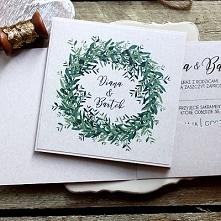 zaproszenie  ślubne zielony...