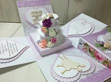 Exploding box ślub z tortem...