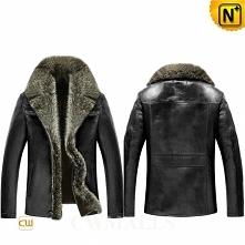 Mens Winter Jackets | CWMALLS® Ottawa Shearling Fur Leather Jackets CW855351 [Custom Made]