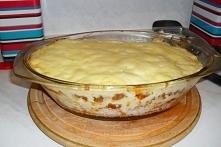 zapiekanka z ryżem i mięsem mielonym