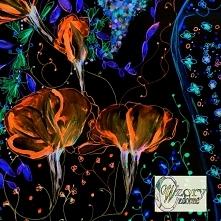 Kwiaty - element ozdobny - ...