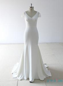 Szykowny po prostu pasuje do flary #mermaidweddingdress #weddingdresses Model: H0767 (wysyłka gratis na cały świat)