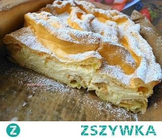 Karpatka. Jedno z ulubionych ciast Mojego Męża,uwielbiam :-) Jedyny minus taki,że znika w locie...