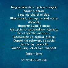 Robert Burns cytat o życiu