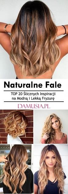 Naturalne Fale – TOP 20 Ślicznych Inspiracji na Modną i Lekką Fryzurę