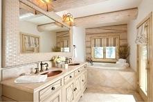 łazienka w stylu wiejskim