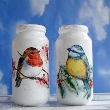 Dekoracja. Komplet dwóch szklanych słoiczków z kolekcji  Winter