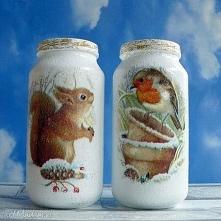 Zima. Święta. Komplet dwóch szklanych słoiczków z kolekcji  Winter