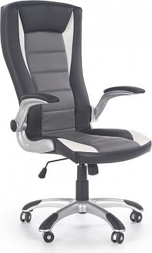 UPSET fotel gabinetowy czarny / biały / popielaty