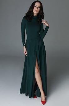 Madnezz Storm sukienka butelkowa zieleń Rewelacyjna długa sukienka, w której każda kobieta będzie zachwycać, wykonana została z jednolitej, najwyższej jakości bawełny, góra suki...